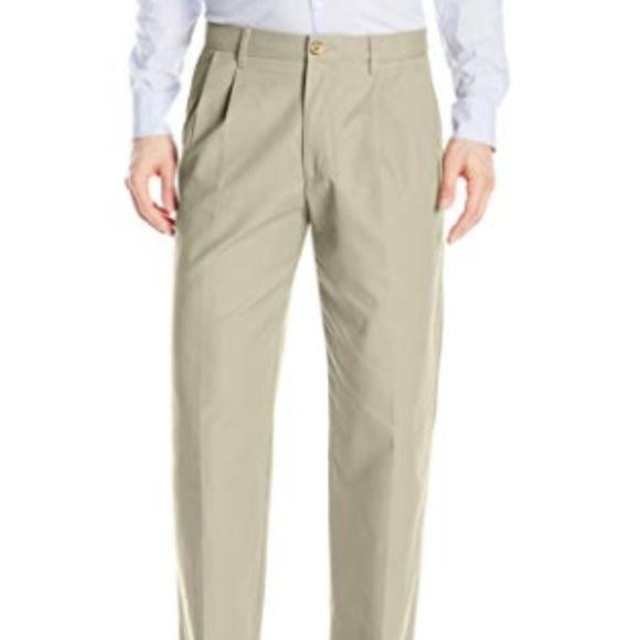 "NWT DOCKERS  D3 CLASSIC FIT /""CLASSIC KHAKI/"" FLAT FRONT CHINO PANTS-BEIGE-32X30"